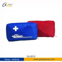 China GJ-2013 DIN13164 Certificated Red, Blue170D Nylon Material Car First Aid Kit For Emergency wholesale