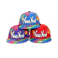 Quality 6 Panel Screen Printed Hip Hop Baseball Caps With 3D Embroidery New York for sale