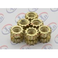 China CNC Machine Parts Brass Gear Shape Nuts For Plasctic Inserts , SGS ISO Listed wholesale