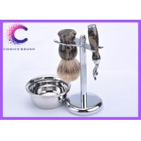 China Silvertip Badger Shaving Brush Set Shaving Grooming Kit For Men And Women wholesale