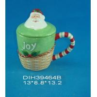 China Fashionable Xmas Custom Ceramic Mugs With Lid Personalised Santa Clause Cover wholesale