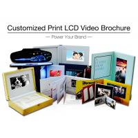 Advertising promotion video brochure card 7 inch 7inch in print lcd screen book digital catalog