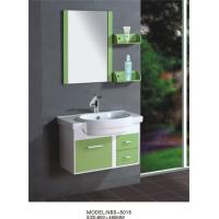 China 80 X48/cm PVC bathroom cabinet/  wall cabinet /white color with mirror for bathroom wholesale