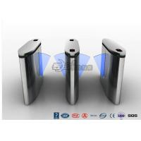 Quality IP54 Anti - Breakthrough Flap Turnstile Speed Automatic Gates Barcode System With Bule Light for sale