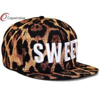 China Women Fitted Baseball Hats , Striped Patterns Snapback Cap with 3D Embroidery wholesale