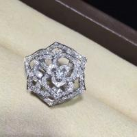 China Piaget brand jewelry Rose ring in 18K white gold set with 143 brilliant-cut diamonds (approx. 1.20 ct). wholesale