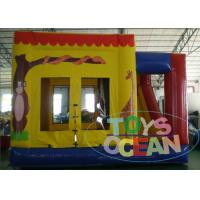 China Inflatable Childrens Bouncy Castle With Slide / Sports Combo Bounce House wholesale