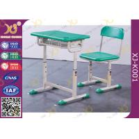 China Durable Kid's School Desk And Chair PE Seat And Back Comfortable wholesale