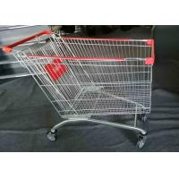 China Grocery Foldable Shopping Cart , 4 Wheel Shopping Trolley Powder Coated wholesale