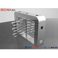 China Security Waist Height Turnstiles Entrance Stepping Driver Motor RS485 Communication Interface wholesale