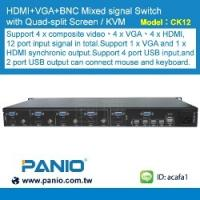 China 4 in 1 out HDMI 1080P KVM Seamless Switch and Seamless VGA Switch Quad multi-Viewer wholesale