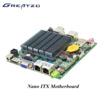 China DC 12V Quad Core Nano ITX Embedded Motherboard With MSATA MPCIE SIM Slot wholesale