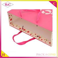 Quality Red Love hand length handle paperboard wedding gift bag for sale