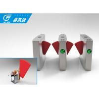 China Secuirty Barcode Scanned Automatic Flap Sliding Turnstile Gate For Airport on sale