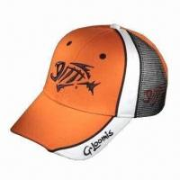 China Mesh Cap with 3D Embroidered Logo, Made of 100% Cotton wholesale