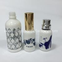 China 30ml,50ml Opal White Essential Oil Glass Bottles With Caps wholesale