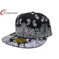 China Black 5 Panel Custom Embroidered Fitted Hats Floral Baseball Cap For Spring wholesale
