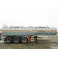 China Sulfuric Acid Chemical Tank Trailer , Tank Semi Trailer With Plastic Liner Inside on sale