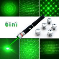 China Ray Beam Green Laser Pointers With 5 Different Laser Patterns Powerful Military on sale