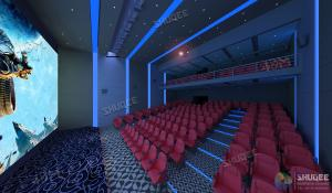 China International 50-120 People 3D Cinema With 120HZ Projector Silver Screen wholesale
