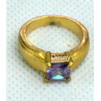 Buy cheap Unisex Tin alloy Fashion gold Cluster Western Jewelry Rings with Rhinestone from wholesalers