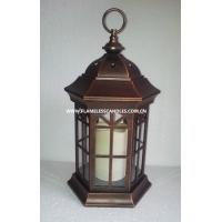 Outdoor lantern with flameless candle images images of for Unique outdoor lanterns
