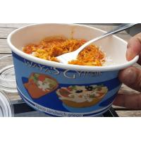 Buy cheap Hot Cake Insulated Paper Food Containers With Lids , Black Disposable Soup Bowls from wholesalers