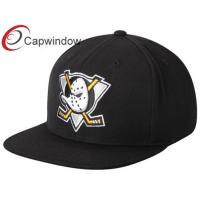 Buy cheap Black Anaheim Ducks Wool Flat Brim Baseball Hats for Adults from wholesalers