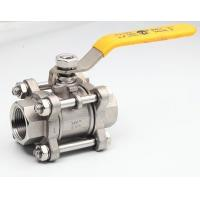 Quality Female Reduced Bore Ball valve 3 piece Screw-On Lever operated for sale