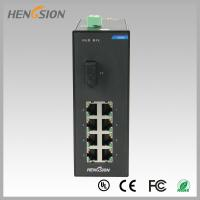 China Din rail Lightweight Gigabit Ethernet Switch 8 Electric Port and 1 FX wholesale