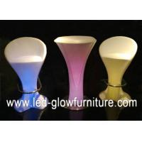 China High bright RGB Garden Bar cafes lighted cocktail tables with Switch , Remote Control wholesale