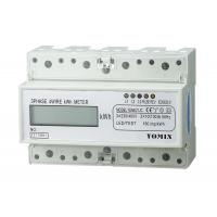 China 7 Module 4 Wire Three Phase Power Meter CT Connection Din Rail KWH Meter wholesale