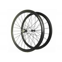 China 11 Speed Carbon Wheelset 700C*25MM , Tubular Road Bike Wheels With Alloy Black Nipple on sale