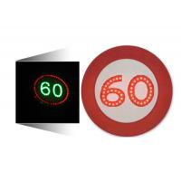 China LED Solar Traffic Signs 60 Mph Speed Limit Sign Aluminum Housing wholesale