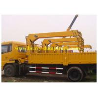 China Truck mounted crane 4 tons for UAE , Heavy Duty Cranes Sinotruk HOWO on sale
