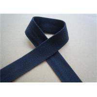 China Blue Printed Elastic Webbing Straps Single Fold 2 Cm Width For Bags wholesale