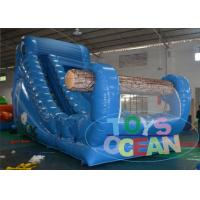 China Outdoor Large Inflatable Water Slide Blue Funny Elephant Design wholesale