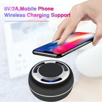 China TWS portable bluetooth speaker mobil phone wireless charging support LED colorful with radio wholesale