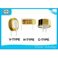 China High Power Low ESR Electrolytic Capacitor , 5.5V Button Electric Double Layer Super Capacitor on sale