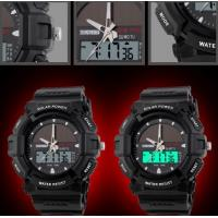 Quality Wholesale Men Leisure Outdoor Sport Watches Solar Power Dual time Chrono 5ATM Waterproof Wrist Watches 1050 for sale
