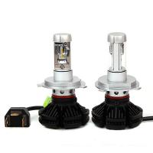 Quality X3 Fanless 6000LM 50W ZES H4 9004 9007 H13 hi/lo beam LED headlight Car Auto LED for sale