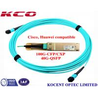 China MPO MPO 40G 1m 2m 3m OM3 Fiber Optic Patch Cord For QSFP+-40G-SR4 Cisco Huawei Compatible wholesale