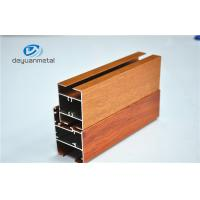 Quality Nature Polishing Custom Aluminum Extrusion Sliding Door Frames Wood Grain for sale