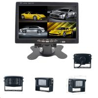 4 Night Vision Rear View Camera With 7 inch Quad Monitor For Heavy Duty Vehicles