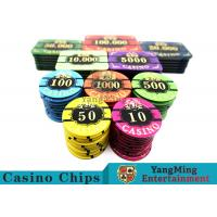 Acrylic Casino Style Poker Chips Tough And Durable With ABS New Material