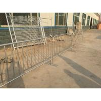 Buy cheap Hot galvanized steel construction barricades / cheap crowd control barriers for sale from wholesalers