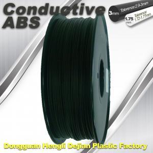 China Good elasticity universal ABS Conductive 3d Printer Filament in Black wholesale