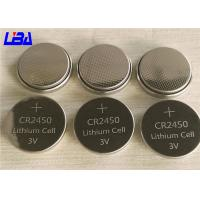 China Original Green Power Button Cell Battery , High Drain Lithium Cell Cr2450 wholesale