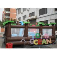 Quality Outdoor Inflatable Playground Forest Theme Obstacle Amusement Playground For Kids for sale