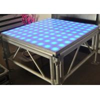 China Colorful Aluminum Stage Platform , Movable LED Dancing Floor 4 * 4 Ft Size on sale
